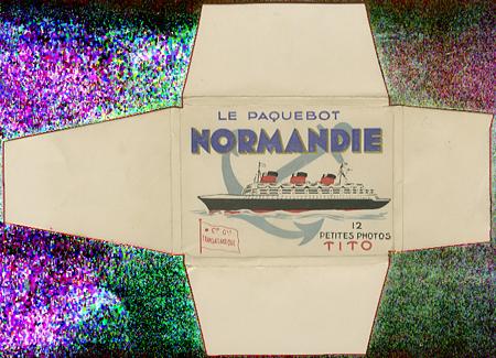 Paquebot Normandie - Carnet de photos petit format - Editeur : TITO - Carnet 1 : Couverture