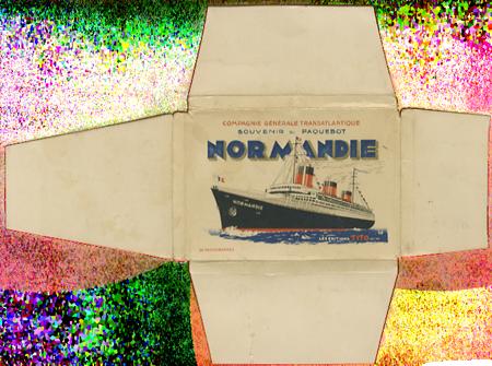 Paquebot Normandie - Carnet de photos petit format - Editeur : TITO - Carnet 5 : Etui extérieur