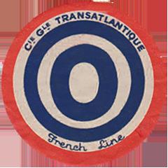 ETIQUETTE DE QUAI - LETTRE O - FRENCH LINE