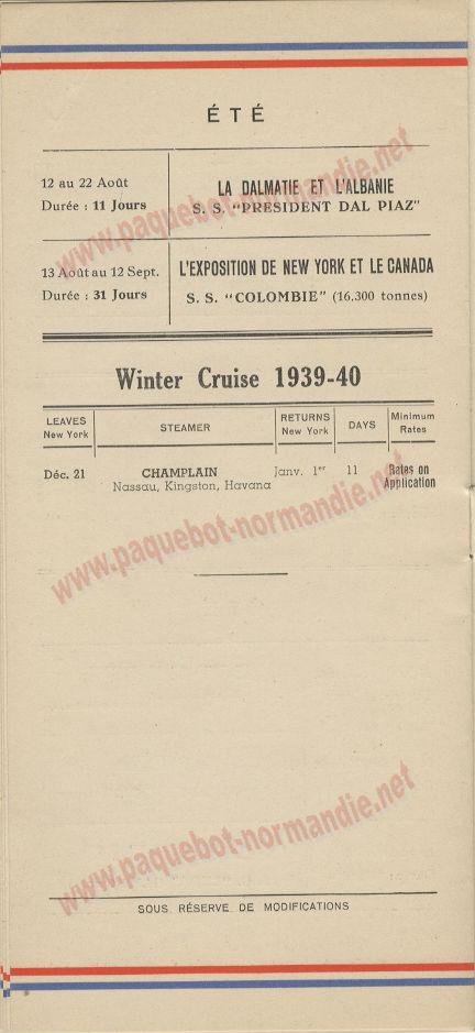 PAQUEBOT NORMANDIE- LISTE DES PASSAGERS DU 21 JUIN 1939 - 5