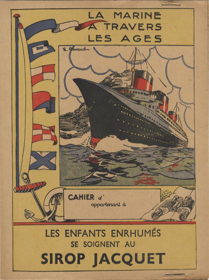 Paquebot Normandie - Protège-cahier SIROP JACQUET